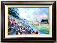 """Thomas Kinkade """"NASCAR THUNDER - DAYTONA"""" /32 R/E 24X36 Hand Embellished Giclee"""
