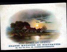 """CLERMONT-FERRAND (63) Carte chromo MAGASIN de MODE """"AUX ARMES DE FRANCE"""""""