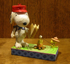 Jim Shore PEANUTS #4049414 SNOOPY WOODSTOCK CAMPFIRE, From Retail Store, Enesco