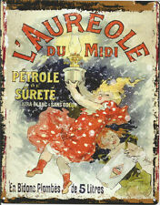 FRENCH  L'AUREOLE LAMP OIL METAL SIGN RETRO VINTAGE STYLE SMALL coffee shop tin