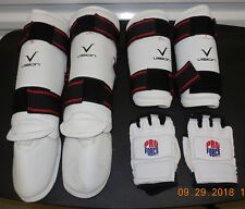 Lot of Vision Mma Taekwondo Karate Sparing Training Gear Arm Leg Helmet Gloves