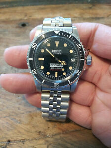 1665 1680 Mod Submariner Seiko NH35 Automatic Stainless Mens Diver Watch Nice!!!
