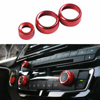 For BMW 3 4 Series GT 2013-2019 Red Aluminum Alloy Console Volume Switch Ring