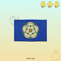 YORKSHIRE County Flag Embroidered Iron On Sew On Patch Badge For Clothes Etc