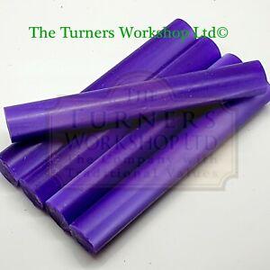 WOOD-TURNING -  5 x Erinoid Violet Pen Blanks