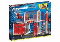 PLAYMOBIL Große Feuerwache mit Alarmsound Feuerwerstation,Weihnachtsgeschenk