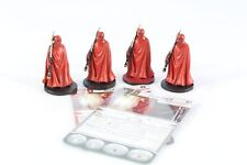 Star Wars Miniatures garde royale X 4 Imperial Assault Group Core Set Pro Painted