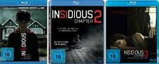 3 Blu-rays * INSIDIOUS CHAPTER 1 - 3 IM SET - Rose Byrne  # NEU OVP <+