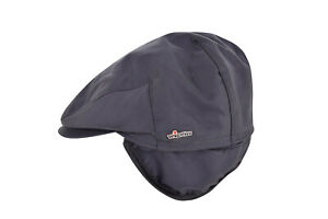 Wigens NWT Cotton Blend Newsboy Cap in Solid Black Size 59, 7 & 3/8ths