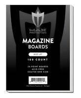 Pack / 100 Max Pro Magazine Size ACID FREE Backing Boards backer board