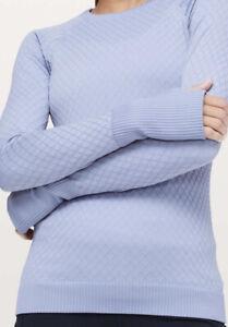 Lululemon Rest Less Pullover Iron Purple / White size 10