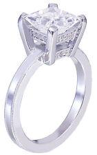 Platinum princess forever one moissanite and diamond engagement ring bridal 1.70