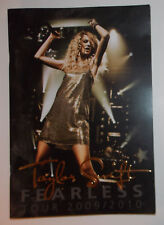 Taylor Swift Fearless Tour Book 2009 2010 Concert Program First Headline Tour