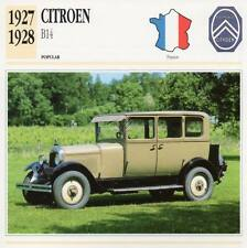 1927-1928 CITROEN B14 Classic Car Photograph / Information Maxi Card