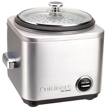 New Cuisinart 8-Cup Rice Cooker Stainless Steel Steaming Basket w/ Built In Tray