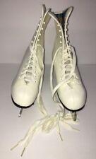 Vintage Rare American Aces 520 White Ice Figure Skates Winter Women's Size 6 New