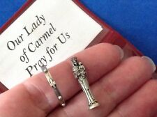 Rare Our Lady of CARMEL Icon and Rosary Ring Pocket Folder Statue Saint