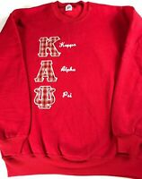 Kappa Alpha Psi Sweatshirt VTG Mens XL Fraternity College USA Made Long Sleeve