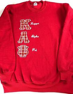 Kappa Alpha Psi Sweatshirt VTG Mens XL Fraternity College USA Made Long Sleeve