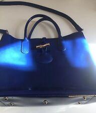 sac longchamps cuir Bleu