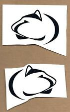 Penn State University PSU Mini Helmet Sticker Decal Nittany Lion Head & Reverse