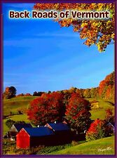 Back Roads of Vermont United States of America Travel Art Poster Advertisement
