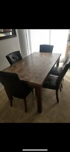 7  Pc  Dining  room  set  for  6-Table  with  Leaf  and  6  Kitchen  Dining ...