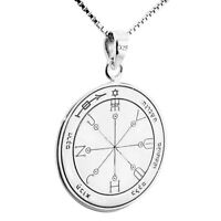 Seal of Highest Protection Pentacle King Solomon Pendant Amulet Silver 925