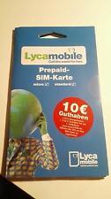 10 € -SIM- karte  LycaMobile  nur noch 2,99 €
