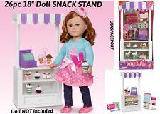 "18"" Doll SNACK STAND Sweet IceCream Dessert Shop Set 4 My Life As American Girl"