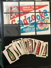 Wacky Packages Near Complete Series 1 (29/30) Sticker Set + 8/9 Puzzle