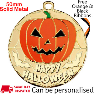 Best Halloween Costume Medal & Ribbon, Engraved, Halloween Fancy Dress Trophy