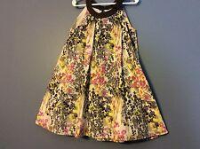 Oshkosh girls dress size 5 brown multicolored splatter pattern lined  121