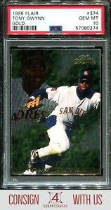 1996 FLAIR GOLD #374 TONY GWYNN PADRES HOF POP 1 PSA 10 A3124038-274