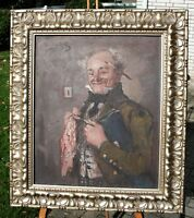 """Rudolf WOLF;Leipzig-München;""""Amtsvorsteher""""; Öl/Lwnd. 60,5x50,5 cm; gerahmt"""