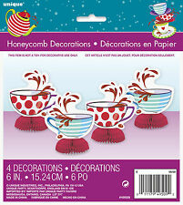 Mad Hatter mini honeycomb decorations