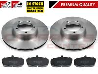 FOR LDV CONVOY 2.4 2.5 2002-2006 FRONT BRAKE DISCS & PADS 275mm VENTED ABS
