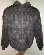 Vintage Ashes trapper bomber coat jacket wool Nordic argile pattern nylon XXL