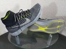Nike Lunarepic Flyknit Shield Mens 11 Black / Silver / Grey / Green