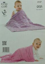Blankets Aran Crocheting & Knitting Patterns
