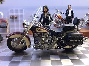 Franklin Mint Harley Davidson 1986 Heritage Softail Motorcycle 1/10