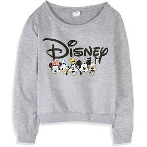 Original Disney Minnie Mickey Mouse Women's Adult Cotton Sweatshirt Jumper XS-XL