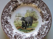 NEW SPODE WOODLAND DINNER PLATES Bear, Dog,Elk,Turkey,Quail,Grouse, Pheasant