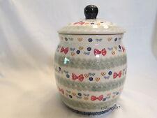 Boleslawiec * Polish Pottery * Christmas / Holiday Cookie Jar *  New!
