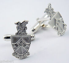 Beta Theta Pi, ΒΘΠ, CrestCufflinks .925 Sterling Silver By McCartney