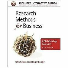 Research Methods for Business : A Skill-Building Approach 6th by Sekaran 6e