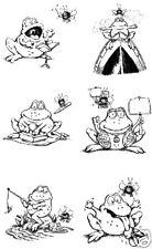 ANTHONY & BURT #5 STAMP SET - 6 Frog & Fly Stamps