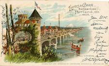 EXHIBITION: OREGON WORLD'S FAIR 1905-Bridge of all Nations-LEWIS & CLARK