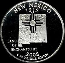 2008 S 90% Silver New Mexico State Quarter Deep Cameo Gem Proof No Reserve