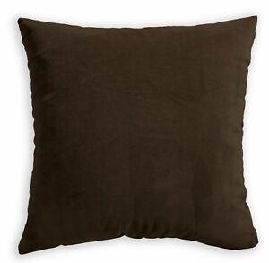 Mf09a Medium Brown Plain Silky Soft Velvet Cushion Cover/Pillow Case Custom Size